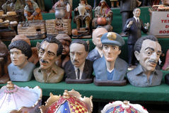 San Gregorio Armeno craftsmen. Naples, San Gregorio Armeno street Neapolitan craftsmen of nativity scenes and other figurines, of various sizes, are perfectly stock images