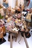 San Gregorio Armeno craftsmen. Naples, San Gregorio Armeno street Neapolitan craftsmen of nativity scenes and other figurines, of various sizes, are perfectly Stock Photos