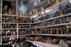 San Gregorio Armeno craftsmen. Naples, San Gregorio Armeno street Neapolitan craftsmen of nativity scenes and other figurines, of various sizes, are perfectly Royalty Free Stock Photos