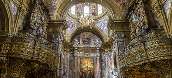 San Gregorio Armeno kyrka, Naples Italien Arkivbilder