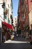 San Gregorio Armeno ulica fotografia royalty free
