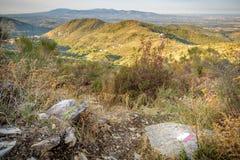 San Gregorio da Sassola de las montañas de Prenestini Imágenes de archivo libres de regalías
