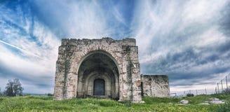 San Gregorio Hermitage Church alle periferie di Montijo, Badajoz, Spagna fotografie stock libere da diritti