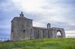 San Gregorio Hermitage Church en las cercanías de Montijo, Badajoz, España fotos de archivo libres de regalías