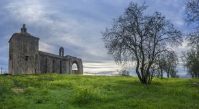 San Gregorio Hermitage Church en las cercanías de Montijo, Badajoz, España foto de archivo libre de regalías