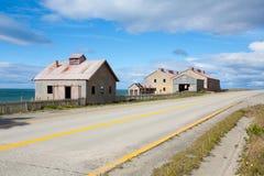 San Gregorio townscape, Punta Delgada, Chile landmark. Estancia San Gregorio. Abandoned buildings royalty free stock images