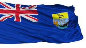 San Helena Flag, isolata su bianco Illustrazione di Stock