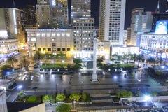 San hermoso Francisco Union Square por la noche - SAN FRANCISCO - CALIFORNIA - 17 de abril de 2017 Fotos de archivo