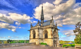 San Hubert Chapel al castello di Amboise il Loire Valley - in Francia fotografia stock libera da diritti