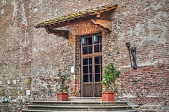 San Iacopo e Filippo church entrance Stock Photography