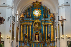 San Ignacio Church, Buenos Aires, Argentina. San Ignacio Church, interior view, luxurious shire, Buenos Aires, Argentina Royalty Free Stock Photo