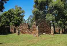 San Ignacio Jesuit Mission Ruins Stock Photo