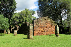 San Ignacio misi ruiny w Argentyna fotografia royalty free