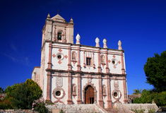 San ignacio mission. Is the main church of the town with the same name, baja california sur, mexico stock image