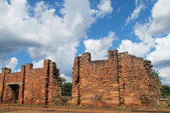 San Ignacio Mission fördärvar i Argentina Arkivbild