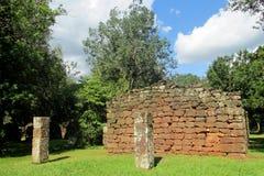 San Ignacio Mission fördärvar i Argentina Arkivfoton