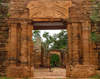 San Ignacio Ruins Royaltyfria Bilder