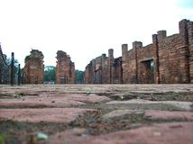 San Ignacio Ruins. Awsome ruins of San Ignacio in the north of Argentina Stock Photography