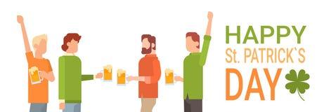 San interno Patrick Day Celebration, insegna del pub del gruppo della gente di festival della birra del partito Fotografie Stock Libere da Diritti