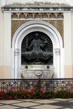 San Istvan Statue sulla cattedrale di Kaposvar Fotografia Stock Libera da Diritti