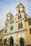 San Jacinto av den Yaguachi domkyrkan, Ecuador Royaltyfri Bild