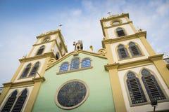 San Jacinto av den Yaguachi domkyrkan, Ecuador Arkivbilder