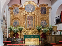 San Jacinto Church Altar Mexico City Stock Image