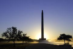 San Jacinto Monument in Dawn Royalty-vrije Stock Fotografie
