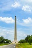 San Jacinto Monument op een de zomerdag stock foto