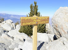 San Jacinto Summit, Californië Royalty-vrije Stock Foto's