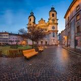 San Jacob Cathedral di mattina Innsbruck, Tirolo, Austria Immagini Stock