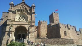 San javier castle in navarra. Basque antique castle Royalty Free Stock Photos