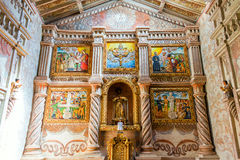 San Javier Church Altar. Altar of the UNESCO World Heritage church in San Javier, Bolivia Royalty Free Stock Image