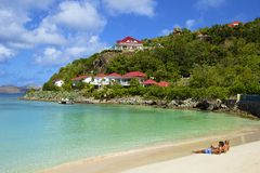 San Jean beach in St Barths, Caribbean Stock Photos