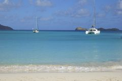San Jean beach in St Barths, Caribbean Royalty Free Stock Photos