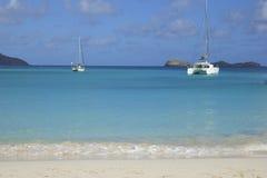 San Jean beach in St Barths, Caribbean Royalty Free Stock Photos
