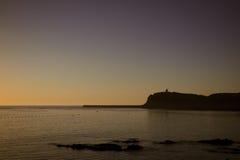 San Jean de Luz durante il tramonto di estate Fotografia Stock
