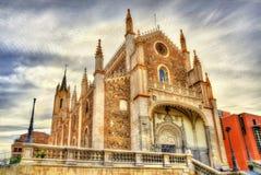 San Jeronimo el Real, Roman Catholic Church no Madri imagens de stock