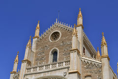 San Jeronimo Real Church in Madrid Stock Photography