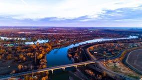 San Joaquin River Imágenes de archivo libres de regalías