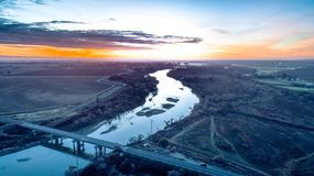 San Joaquin River royalty free stock images