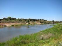 San Joaquin River, Californië stock afbeelding