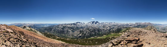 San Joaquin Summit Panorama Royalty Free Stock Photo