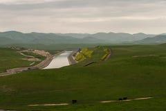 San Joaquin Valley dans le printemps Image libre de droits