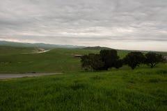 San Joaquin Valley in springtime Stock Photo