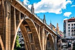 San Jordi Bridge in Alcoy city. Spain Stock Photography
