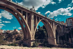 San Jordi (St. George's) Bridge in Alcoy city. Spain Stock Images