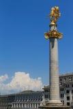 San Jorge en cuadrado de la libertad Foto de archivo libre de regalías
