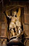 San Jorge que mata al dragón fotografía de archivo