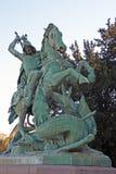 San Jorge que mata al dragón Fotos de archivo